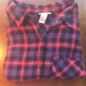 Forever 21 Purple and Red Plaid